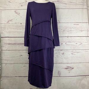 NEON BUDDHA Layered Long Sleeve Dress
